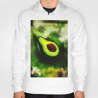 avocado Hoodies featuring Avocado by Marven RELOADED