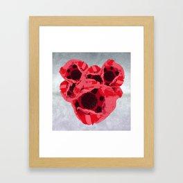 In memoriam - Heart of poppies Framed Art Print