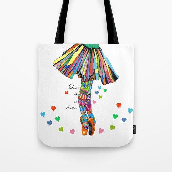 LOVE IS A DANCE Tote Bag