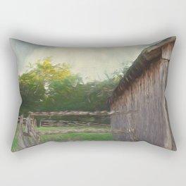 Rustic Summer Barnyard Rectangular Pillow