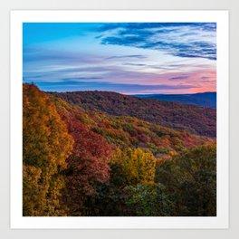 Artist Point Overlook Autumn Landscape - Square Format Art Print