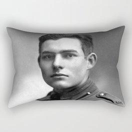 Ernest Hemingway in Uniform, 1918 Rectangular Pillow