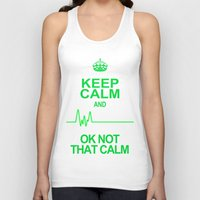 keep calm Tank Tops featuring Keep Calm by Alice Gosling