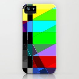 Black out. iPhone Case