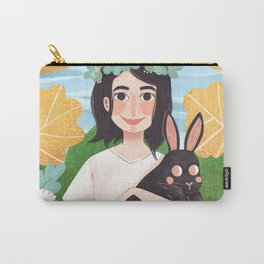 The girl and the rabbit Carry-All Pouch