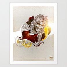 Bas Rutten Art Print