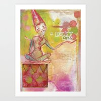 jane davenport Art Prints featuring Lucky Miss by Jane Davenport by Jane Davenport