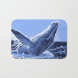 Hump Back Whale Breaching Bath Mat