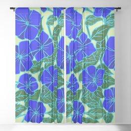 Blue Violets #5 Sheer Curtain