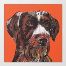 Hunting dog, printed from an original painting by Jiri Bures Canvas Print