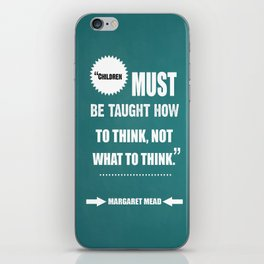 Famous Author Inspirational childrens Quote iPhone Skin