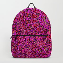 Deep Pink Garden Mandala Backpack