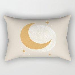 Moon Sparkle - Celestial Rectangular Pillow