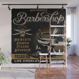 Gentlemen's Barber Shop LA Wall Mural