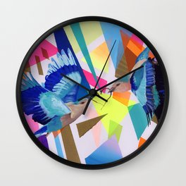 Geo Fly Birds Wall Clock