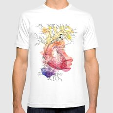 Branches Mens Fitted Tee MEDIUM White