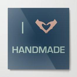 I heart Handmade Metal Print