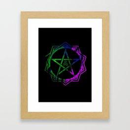 Pentacle Framed Art Print