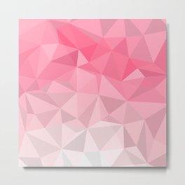 Pink Polygon Metal Print