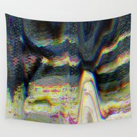 glitch Wall Tapestries featuring glitch by srahburger