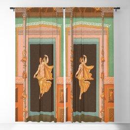 The Girl Retro Decor Ornaments Blackout Curtain