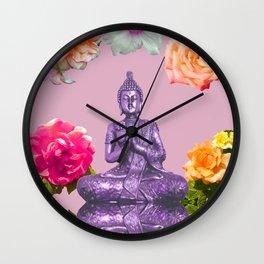 Lavender Buddha Wall Clock