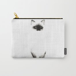 Angora Siamese Cat - Chat Siamois Angora Carry-All Pouch