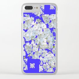 MODERN PURPLE & WHITE LACE FLORAL GARDEN Clear iPhone Case