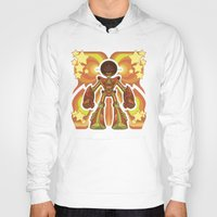 70s Hoodies featuring '70s Robot by Jim Nelson