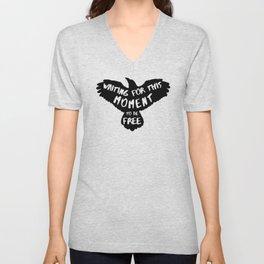 Black Bird Unisex V-Neck