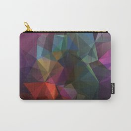 Colored polygon pattern. Carry-All Pouch