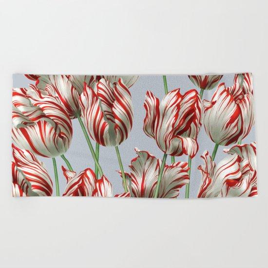 Semper Augustus Tulips Beach Towel