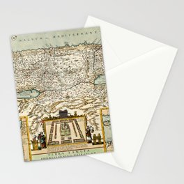 Map Of Israel 1660 Stationery Cards