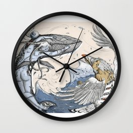 Raven and the Whale Wall Clock