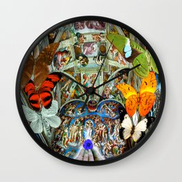 Butterfly in Cappella Sistina SistineChapel Wall Clock