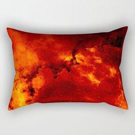 Red Galaaxy Fire Pattern Rectangular Pillow