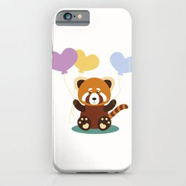 Lovely Red Panda iPhone Case