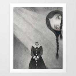 Wednesday's Doll Art Print