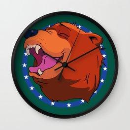 Bear for Hire Wall Clock