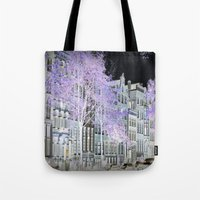 amsterdam Tote Bags featuring Amsterdam by DuniStudioDesign