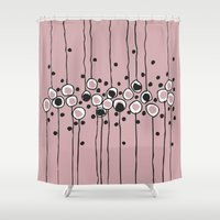 art deco Shower Curtains featuring art deco by Ioana Luscov
