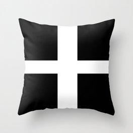 Flag of Cornwall Throw Pillow