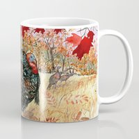 turkey Mugs featuring Woodland Turkey by Edith Jackson-Designs