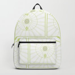 Green Seeing Eye Pattern Backpack