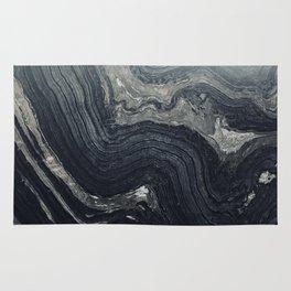 Dark Gray Marble Pattern Rug