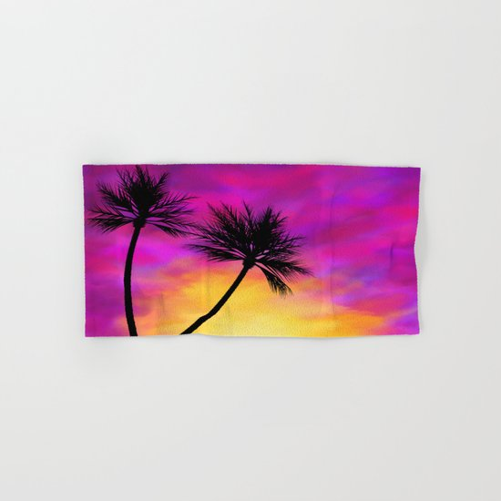 Palm Tree Sunset Hand & Bath Towel