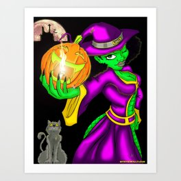 Hot Witch Art Print