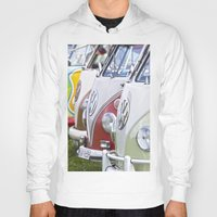 volkswagen Hoodies featuring Old Volkswagen Splitty Buses by Premium