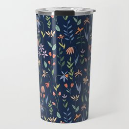 Wildflowers in the Air Navy Travel Mug