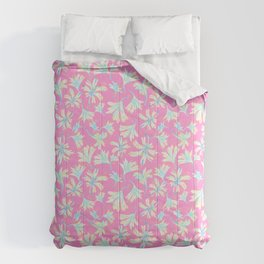 Fine floral layers Pink Comforters